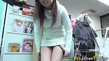 Japanese slut drinks piss