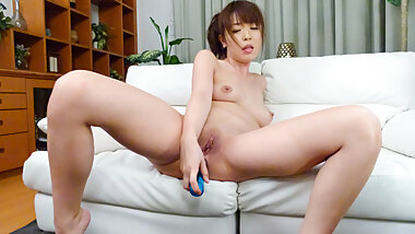 Marika plays with her pussy on the couc - More at Pissjp.com