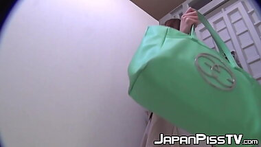 Gorgeous Japanese chicks need to pee really bad in this vid